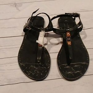 Coach Piccadilly rubber and leather sandals new 7